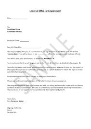 Formal Job Offer Template Hrguide Sample Job Offer Letter