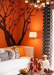 orange wall paintModern Interior Design Ideas Celebrating Bright Orange Color Shades