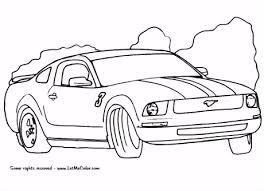 Kleurplaat Raceauto Ford Mustang Kleurplaat Y2ij71klu3