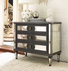 Mirrored Furniture Living Room Hooker Furniture Living Room Mirror Accented Chest 5218 85001