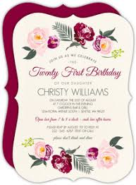 B Day Invitation Cards 21st Birthday Invitations 21st Birthday Invites Purpletrail
