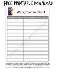 free printable weight loss chart