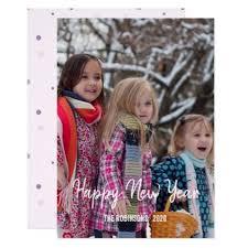 <b>Handwriting</b> overlay Happy New Year <b>family</b> photo Card - invitations ...