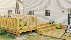 how to build deck steps without stringers