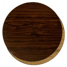 24 reversible round walnut light oak
