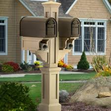 double mailbox post. Mailbox Posts - Rockport Double Post