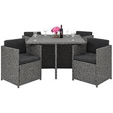 space saving patio furniture. best choice products space saving outdoor patio furniture 5piece wicker dining set dark a
