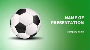 Free Soccer Powerpoint Template Outstanding Football Soccer Ball