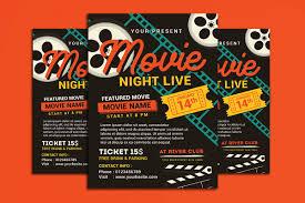 Movie Flyer Movie NightMovie Time Flyer By Muhamad Design Bundles 13