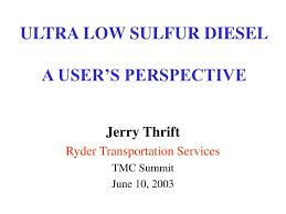 low sulfur deisel ultra low sulfur diesel a user s perspective