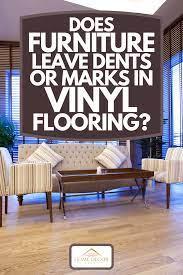 leave dents or marks in vinyl flooring