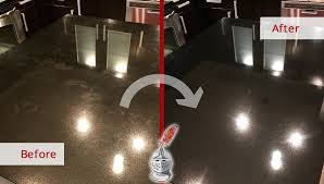 a stone polishing service in nashville red this customer s black granite countertop