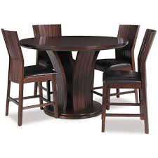contemporary daria 5 piece pub height set by crown mark warm cherry brown finish and modern design brings a sleek and charming atmosphere