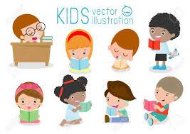 cute kids reading books cute children reading books happy children while reading books