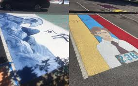 20 times high school seniors transformed their parking spots into awesome works of art