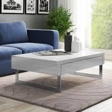 evoque white high gloss coffee table