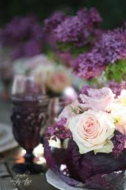 Table Setting In French Entertaining Lilacs Roses Purple Cabbage Table Setting