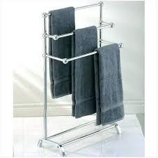 towel racks bathroom target rack free standing outdoor chrome 3 bar rail holder tow