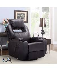 Heat And Massage Recliner With Adjustable Headrest,Lift Chairs With Storage  Arms,Black Faux ...