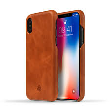Novada <b>Genuine Leather</b> Back Cover Case for Apple iPhone X & XS ...
