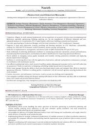 Production Manager Sample Resumes Download Resume Format Templates