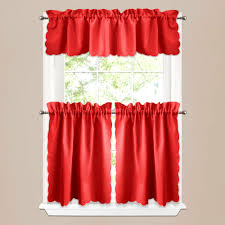 red curtains tier kitchen for beautiful decoration ideas curtain valances 36 window tiers half length