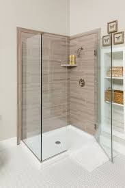 decorative faux tile and stone shower wall panel kit systems are simple for a diy homeowner