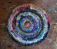crochet pattern for round rag rug round rag rug handmade crochet s fabric shabby round crochet pattern for round rag rug