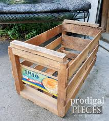 vintage trio cantaloupe wooden crate before prodigalpieces com