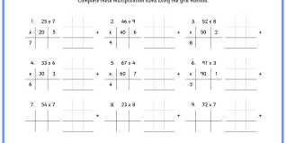 Six differentiated activities to practice using grid method ...