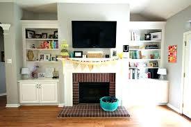 tv above gas fireplace ideas above fireplace ideas fireplace with above with built ins over gas