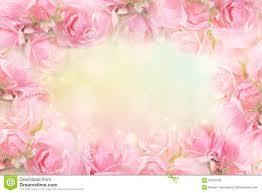 soft pink vintage background. Plain Background Download Pink Rose Flower Frame On Soft Bokeh Vintage Background For  Valentine Stock Photo  Image And G