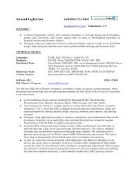 ... sql database developer resume sample ...