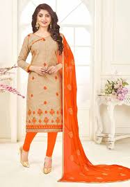 Best Designer Salwar Suits Online Beige Colour Salwar Kameez