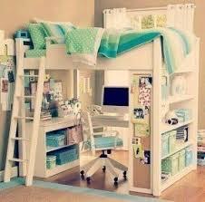 White double loft bed