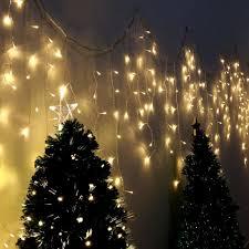 400 Led 10m Lichterkette Eisregen Lichtervorhang Fensterdeko Weihnachten Balkon