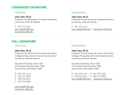 Email Signatures | Brand | Und: University Of North Dakota