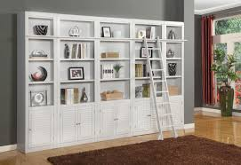 ... Cool Wall Unit Bookcases Bookshelf Wall Diy White Shelves Cabinets With  Ladder:
