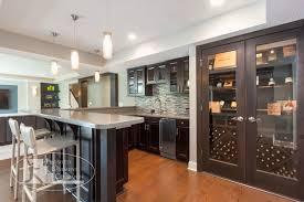 Basement Bar and Wine Cabinet contemporary-basement