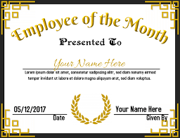 Emploee Of The Month Employee Of The Month Template Postermywall