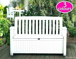 outdoor storage bench wood resin wicker outdoor storage bench garden wood large size of looking white