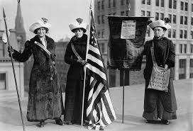 u s women s suffrage timeline of events suffrage protesters flag