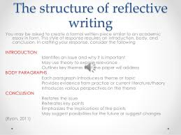 critical reflective writing 13 the structure of reflective writing