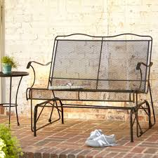 Glider Wrought Iron Patio Chairs Patio Furniture The Home