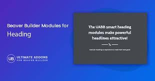 Heading Modules For Beaver Builder Ultimate Addons For Beaver Builder
