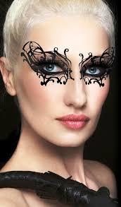 black widow makeup mask