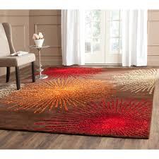 image of safavieh handmade soho burst brown new zealand wool rug 6 square regarding square