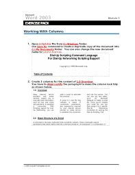 Word Exercises 1