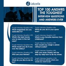 Sample Resume Questions 100 Interview Questions and AnswersJobzella 42