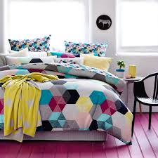 Neon Bedroom Bedroom Latest Neon Bedspreadshexx Quilt Cover Set Bold Hexagons